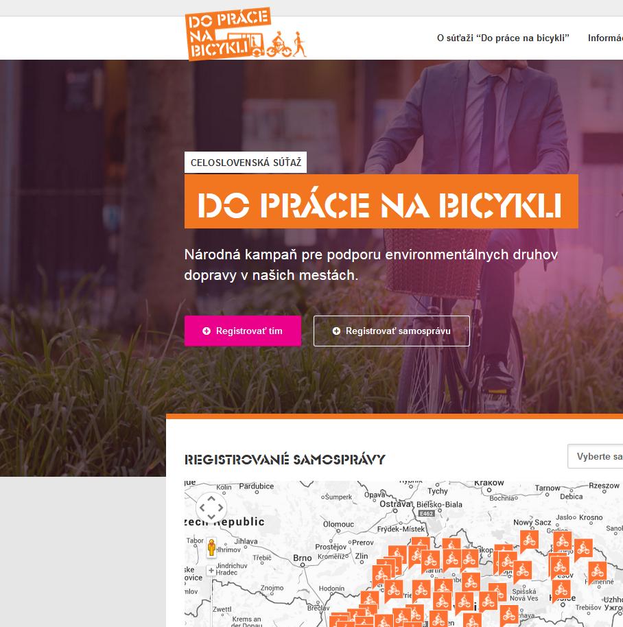 Zapojte sa do kampane Na bicykli do práce.