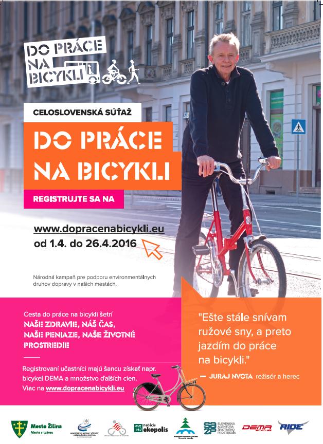 Zapojte sa do celoslovenskej súťaže Do práce na bicykli